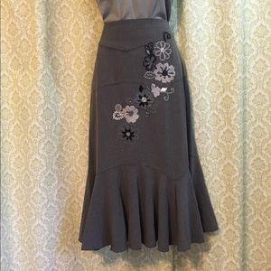 Sunny Leigh embroidered skirt
